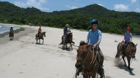 Horseback riding on the beach in Nicaragua